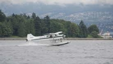 Float plane flips over on take off in Tofino, B.C.