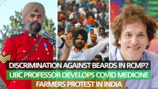 WATCH: Bearded RCMP officers face discrimination over mask policy and Farmers in India protest agriculture bills