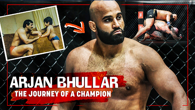 WATCH: Meet the invincible wrestler, Arjan Bhullar, the first South Asian man ever to win the Mixed Martial Arts Championship