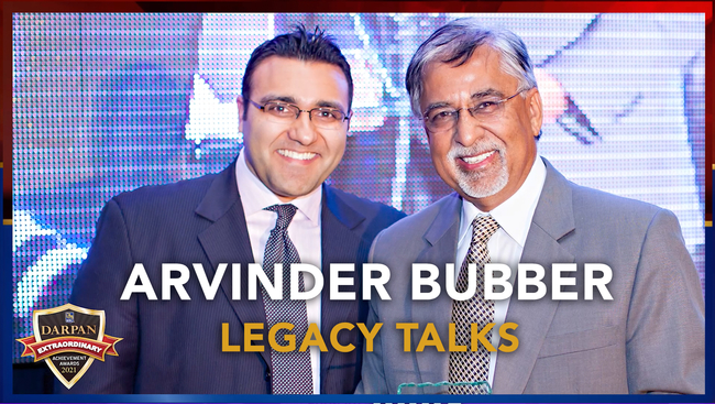 WATCH: Darpan Awards Legacy Talk with Chartered Professional Accountant and KPU's first Chancellor: Mr. Arvinder Bubber