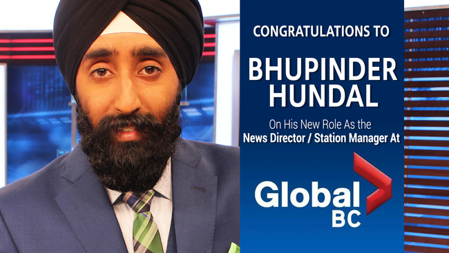 WATCH: Media veteran Bhupinder Hundal talks about his new role as News Director and Station Manager of Global BC