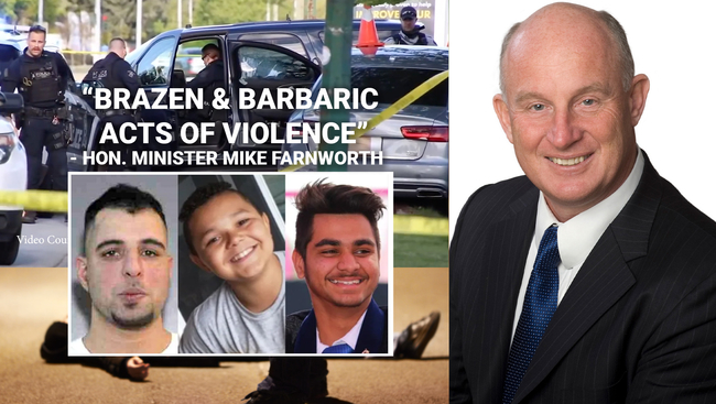 WATCH: Minister of Public Safety & Solicitor General Mike Farnworth reacts to shootings