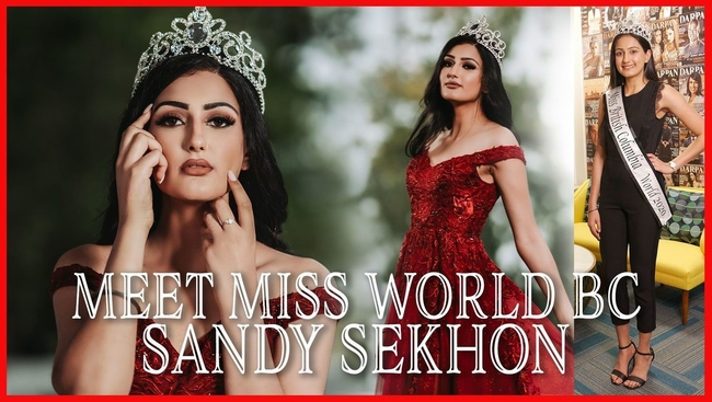 WATCH:  Abbotsford South Asian woman Sundeep Sekhon (Sandy) crowned Miss BC World