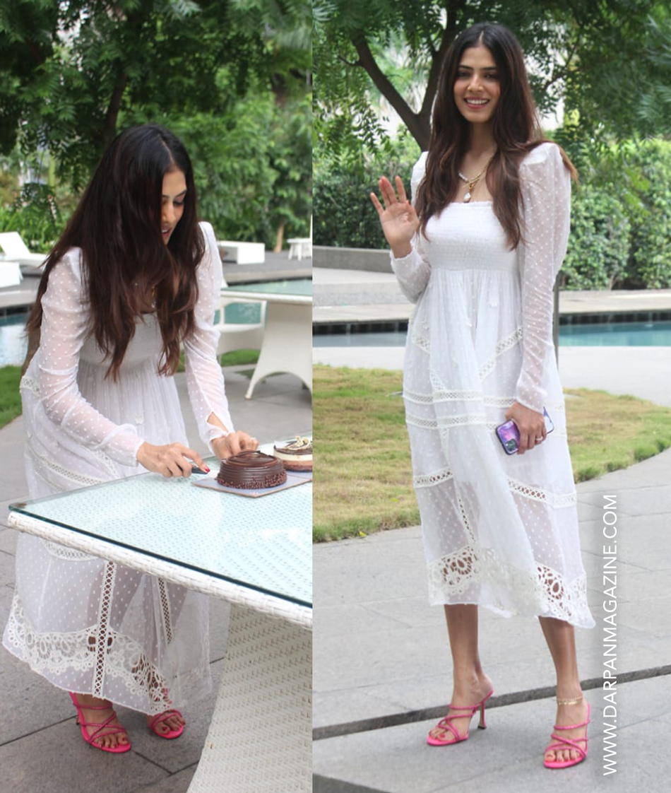 Malavika Mohanan cuts birthday cake