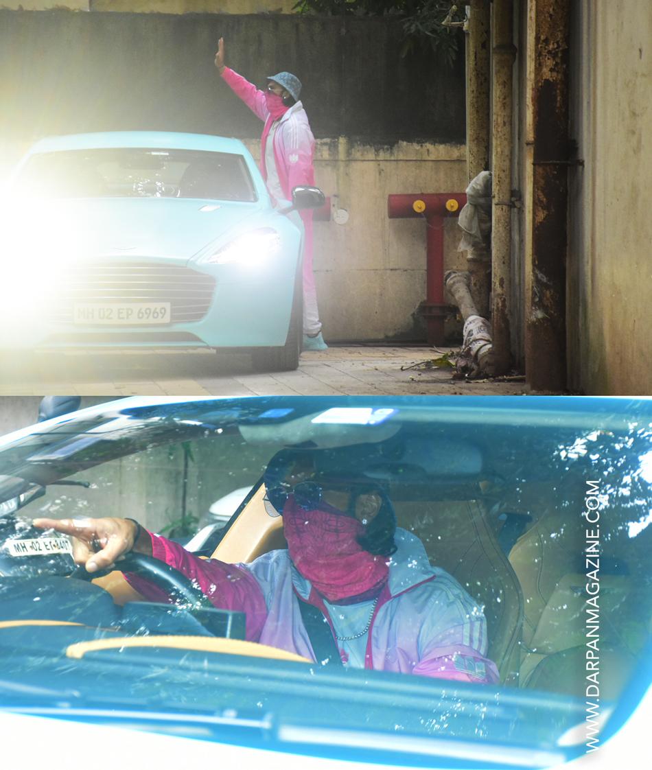 Ranveer Singh with new blue car