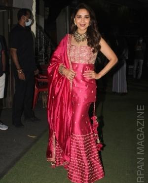 Madhuri Dixit Nene snapped at Filmistan studio