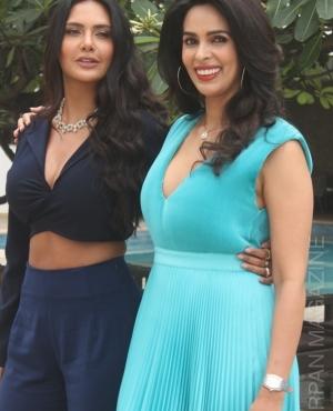 Esha Gupta and Mallika Sherawat are fashionistas in navy blue and aqua