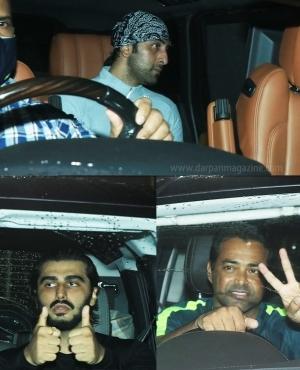 Ranbir kapoor, Arjan Kapoor and tennis star Leander Paes