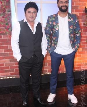 Rapper Mika Singh looks dapper in red jacket