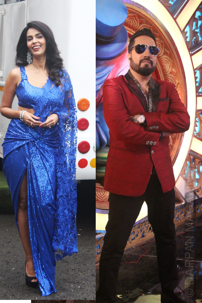 Rapper Mika Singh and Actress Mallika Sherawat at ZEE comedy show
