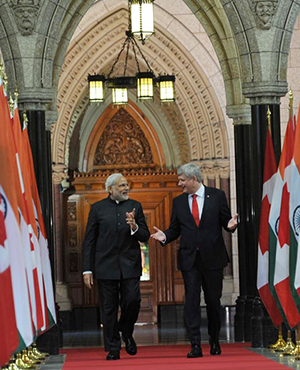 Modi shares remarks at the Joint Press Meet with PM Harper
