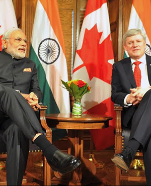 PM Modi is in Canada. 1st Indian PM on a stand alone bilateral visit in 42 years
