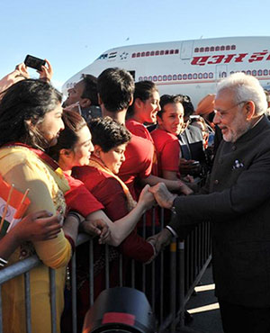 It is the young who are especially excited to greet PM Modi