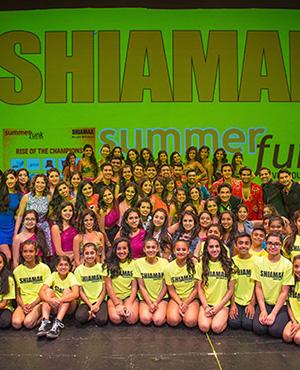 The SHIAMAK Team - the instructors, Special Potential Batch, Advanced Training Program, and Junior Advanced Training Program students with Shiamak Davar & Marzi Pestonji.