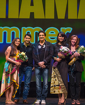 Shiamak Davar & Marzi Pestonji with the judges Pamela Rosa, Kanika Sasan and  Kashmira Pestonji SUMMER FUNK 2015 – Rise of the Champions.