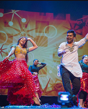 Best of Bollywood! Instructors Rohan D'Silva & Safeeya Pirani with the Moberly Adults presenting a colourful and energetic performance.