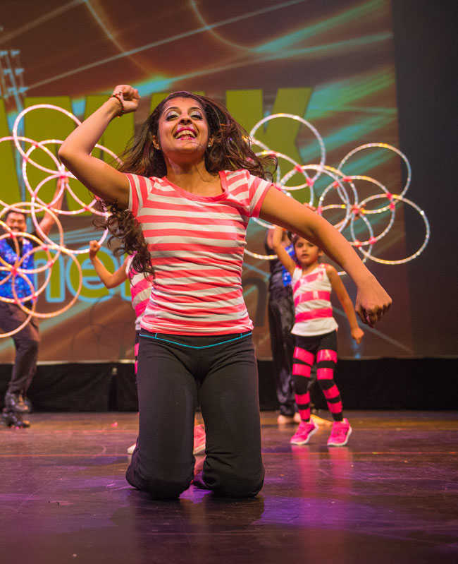 The Stars of tomorrow! Instructor Tahira Karmali gets the toddlers from ages 4 to 6 dance on stage!