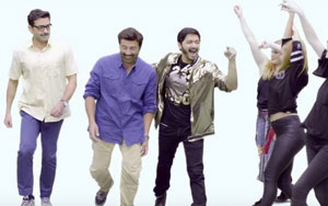 Sunny Deol, Bobby Deol And Shreyas Talpade Groove To The Breezy Dance Number 'Kendi Menoo'