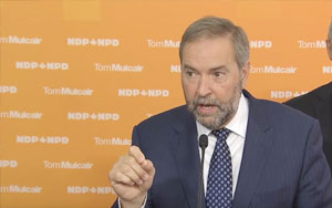 Tom Mulcair Is Committed To Balancing The Budget