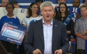 Stephen Harper Takes A Dig At Justin Trudeau's Deficit Plan