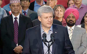Stephen Harper Shares His Thoughts On Refugee Crisis