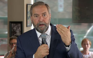 Tom Mulcair Tells Canada Can Do More To Help Syrian Refugees