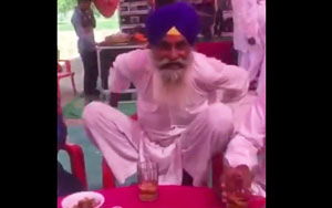 Drunk Baba Dancing On Chair