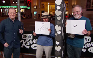 Jimmy Kimmel Asks Couples 'How Many Times A Month Do You Have Sex?'