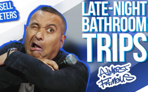 Russell Peters Is At That Stage Of Life Where Late-Night Bathroom Trips Are Frequent