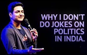 Why I Don't Do Jokes About Politics in India - Stand Up Comedy by Kenny Sebastian