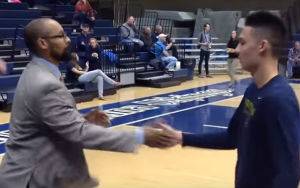 Coach Greets His Players With A Different Handshake Every Time