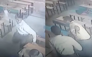 Caught On CCTV: Haryana Student Stabs Teacher After Scoring Low Marks In Maths Paper