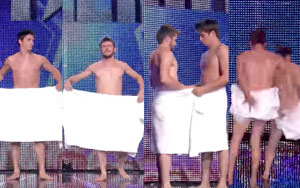 Two Nearly NAKED French Men Dancing With Towels On LIVE TV! Funniest Thing Ever!