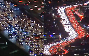 Aerial Footage Of Bumper-to-bumper Los Angeles Traffic Goes Viral