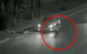 Ghost Or Super Human? Guy 'Flashes' Across To Save Girl From Getting Run Over By Car