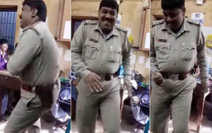 Cop Dances To Peppy Bollywood Number Inside Police Station, Suspended