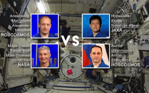 Russian Cosmonauts And American Astronauts Played The First Ever Sporting Event In Space